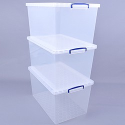 83 litre nestable Really Useful Box (3 pack)