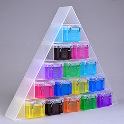 Large pyramid organiser with 15x0.14 litre Really Useful Boxes