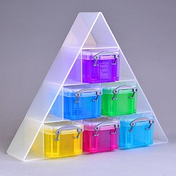 Small pyramid organiser with 6x0.14 litre Really Useful Boxes