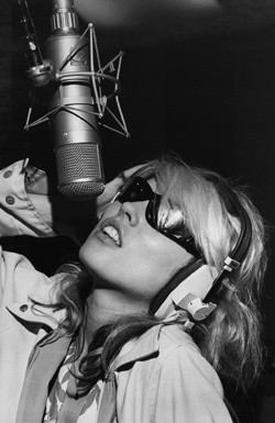Debbie Harry recording Parallel Lines in the Record Plant studio, New York 1978