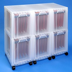 Storage tower triple with 6x25 litre Really Useful Drawers