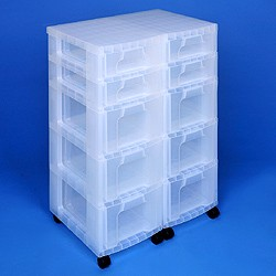 Storage tower double with 6x7 + 9x12 litre Really Useful Drawers