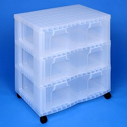 Storage tower double with 3x30 litre Really Useful Drawers