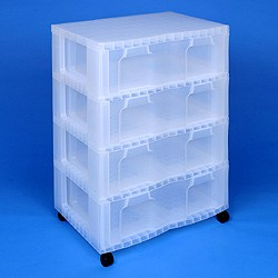 Storage tower double with 4x30 litre Really Useful Drawers