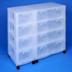 Storage tower triple with 4x12 + 4x30 litre Really Useful Drawers