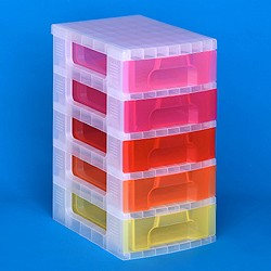 Storage tower with 5x7 litre Really Useful Drawers