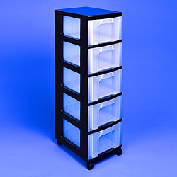 Etonnant Storage Tower With 5x12 Litre Really Useful Drawers ...