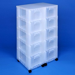 Storage tower double with 10x12 litre Really Useful Drawers