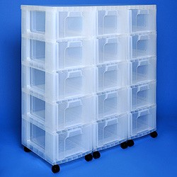 Storage tower triple with 15x12 litre Really Useful Drawers