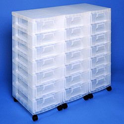 Storage tower triple with 21x7 litre Really Useful Drawers
