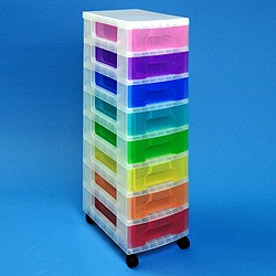 Storage tower with 8x7 litre Really Useful Drawers