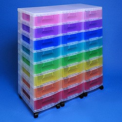 Storage tower triple with 24x7 litre Really Useful Drawers