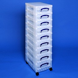 Storage tower with 9x4 litre Really Useful Boxes