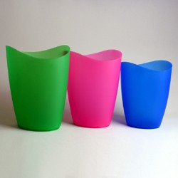 Set of 3 waste bins