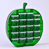 Large apple organiser with 4x0.07 + 16x0.14 litre boxes