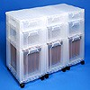 Storage tower triple with 3x7 + 3x12 + 3x25 litre Really Useful Drawers