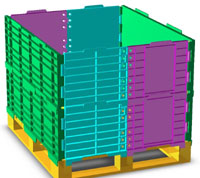 Computer image of stacking pallet collars
